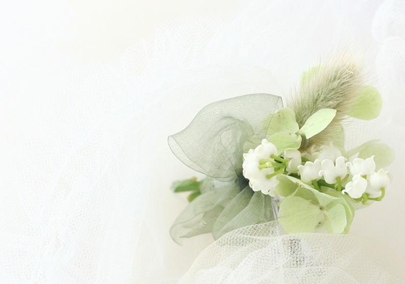 スズランのブーケ、鈴蘭のブートニア_a0042928_2327968.jpg