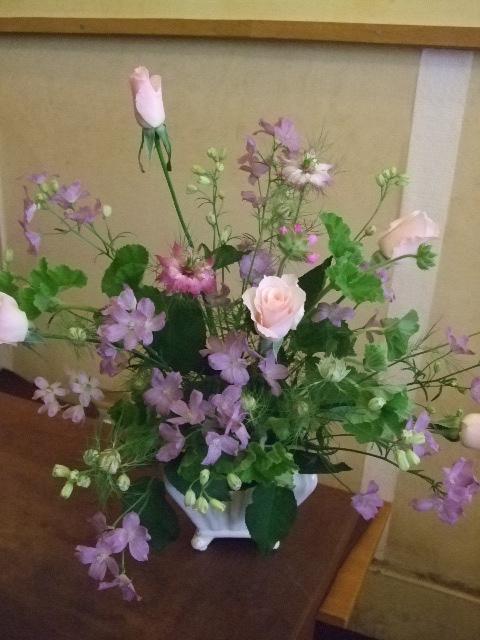 オークリーフ花の教室(カフェマレットさんにて。第2回目)_f0049672_15412241.jpg