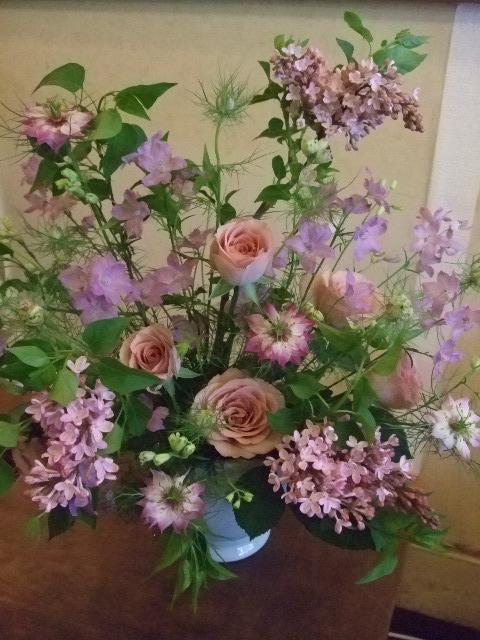 オークリーフ花の教室(カフェマレットさんにて。第2回目)_f0049672_1625320.jpg