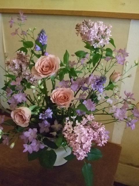 オークリーフ花の教室(カフェマレットさんにて。第2回目)_f0049672_16361655.jpg