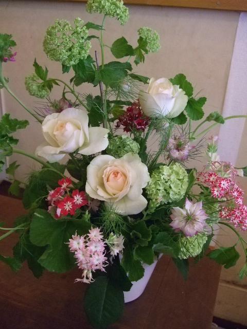 オークリーフ花の教室(カフェマレットさんにて。第2回目)_f0049672_1664920.jpg