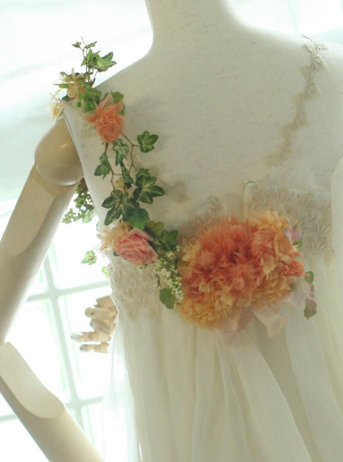 アプリコットの小箱とオレンジのドレス飾り ASO様へ_a0042928_22261985.jpg