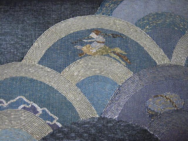 浦島太郎の手織りの帯・今日のコーディネイト。_f0181251_1721433.jpg