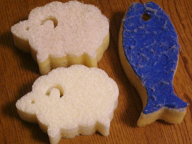 ★白いスポンジ   ~白い羊のキッチンスポンジ~_b0163750_18593289.jpg