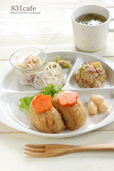 出汁も寿司酢も一緒に♪  THE☆「いなり寿司」!!_f0176108_1543477.jpg