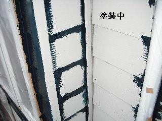 塗装工事5日目・・・外壁塗装開始_f0031037_22103952.jpg