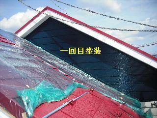 塗装工事5日目・・・外壁塗装開始_f0031037_22111559.jpg
