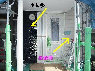 塗装工事5日目・・・外壁塗装開始_f0031037_2292810.jpg