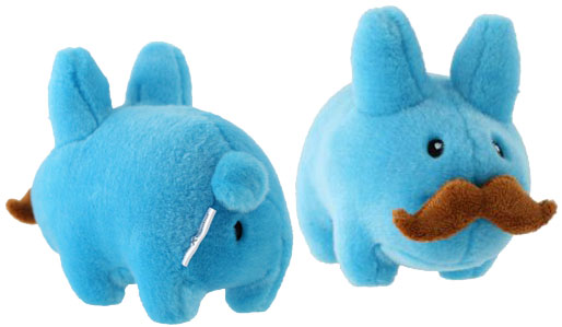 7 inch Plush Blue Moustache Labbit by Kozik_e0118156_14144336.jpg