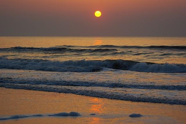 九十九里 赤い太陽 日の出 白子海岸_e0117266_1552496.jpg