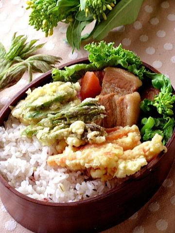 野菜の天丼お弁当_b0171098_8425451.jpg