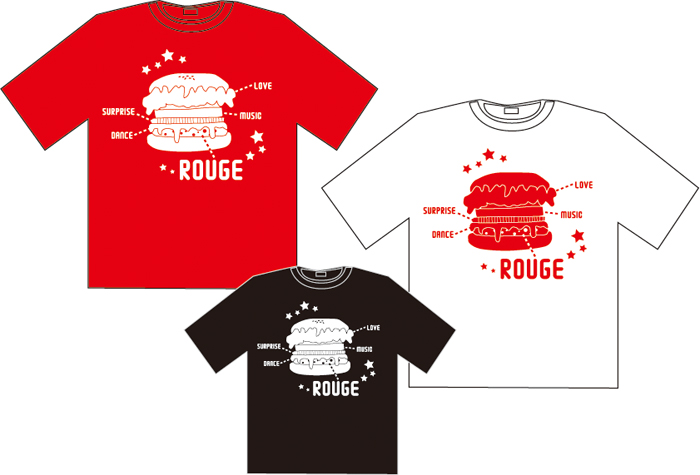 ROUGEが肉のバーガーTシャツ★デザイン。_d0018646_0471315.jpg