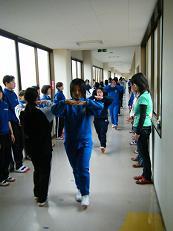 雲仙市立小浜中学校との合同練習...