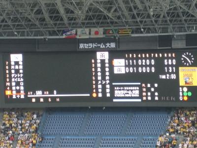 京セラドーム観戦旅行2009年春 その6~阪神対ヤクルト2回戦@京セラドーム_c0060651_8265561.jpg