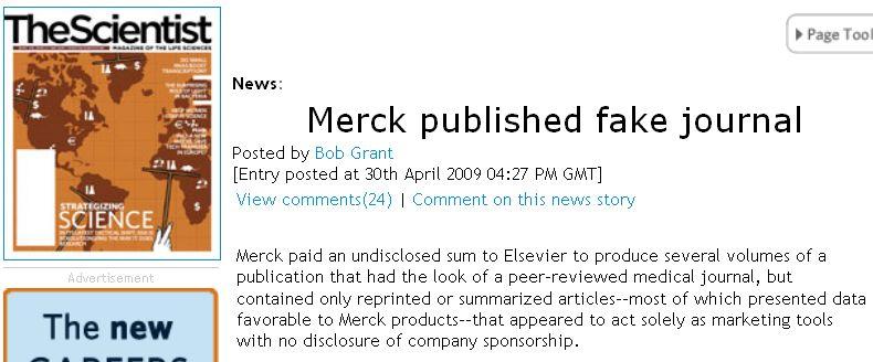 メルクが偽装科学雑誌を出版していた_c0025115_21425319.jpg
