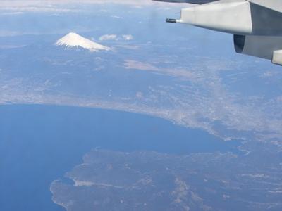 富士山が見えました