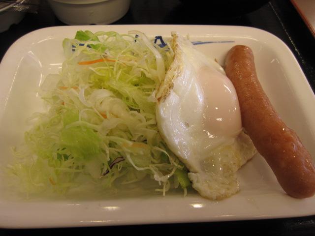 ソーセージ・エッグ定食¥390@松屋_b0042308_222289.jpg