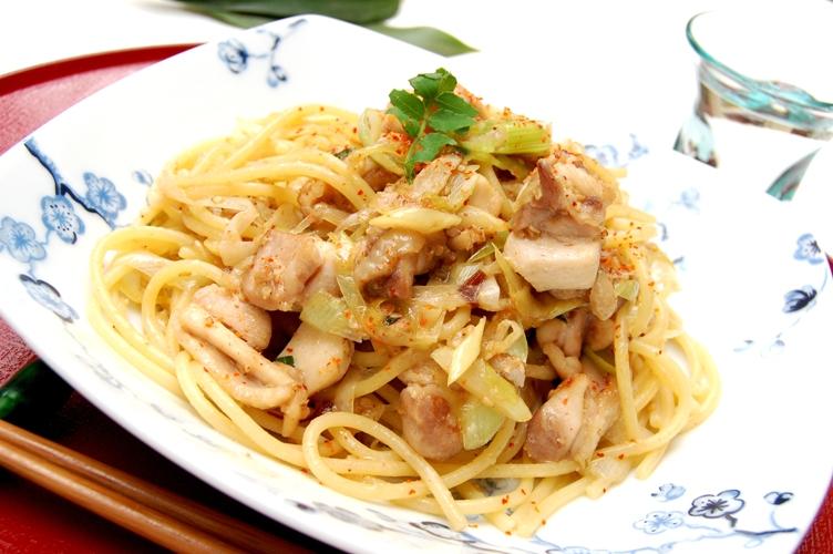 お箸で食べたい☆鶏ネギ味噌パスタ_d0104926_2313153.jpg