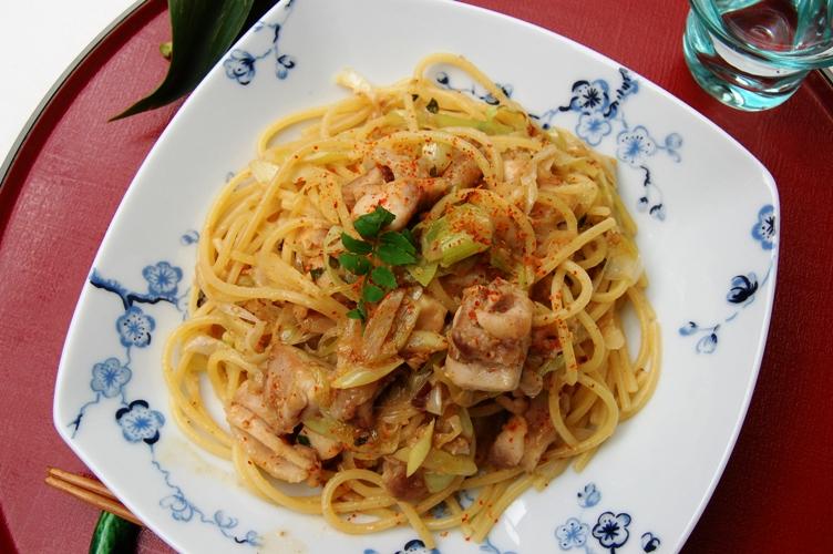 お箸で食べたい☆鶏ネギ味噌パスタ_d0104926_239424.jpg