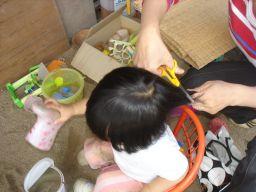 マコの髪カット IN K子美容室 & 肉の天龍_e0166301_1783640.jpg