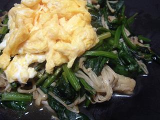 豚バラと白菜の重ね蒸しと卵野菜炒め_c0025217_1372270.jpg
