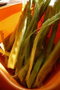 畑の便利野菜カルドの下準備_f0106597_16432968.jpg