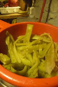 畑の便利野菜カルドの下準備_f0106597_16532311.jpg