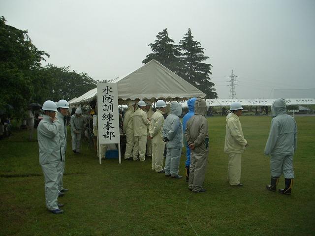 雨の中の水防訓練_f0141310_23344769.jpg