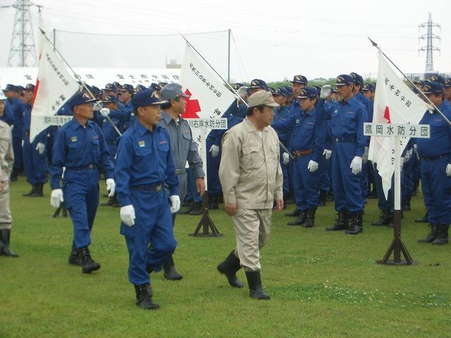 雨の中の水防訓練_f0141310_23354537.jpg