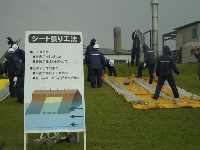 雨の中の水防訓練_f0141310_23375970.jpg