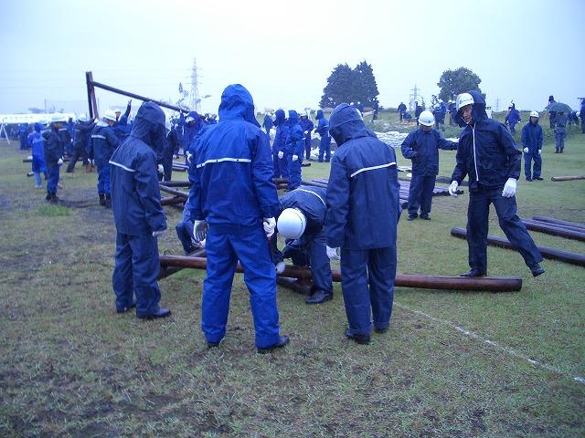 雨の中の水防訓練_f0141310_23391351.jpg