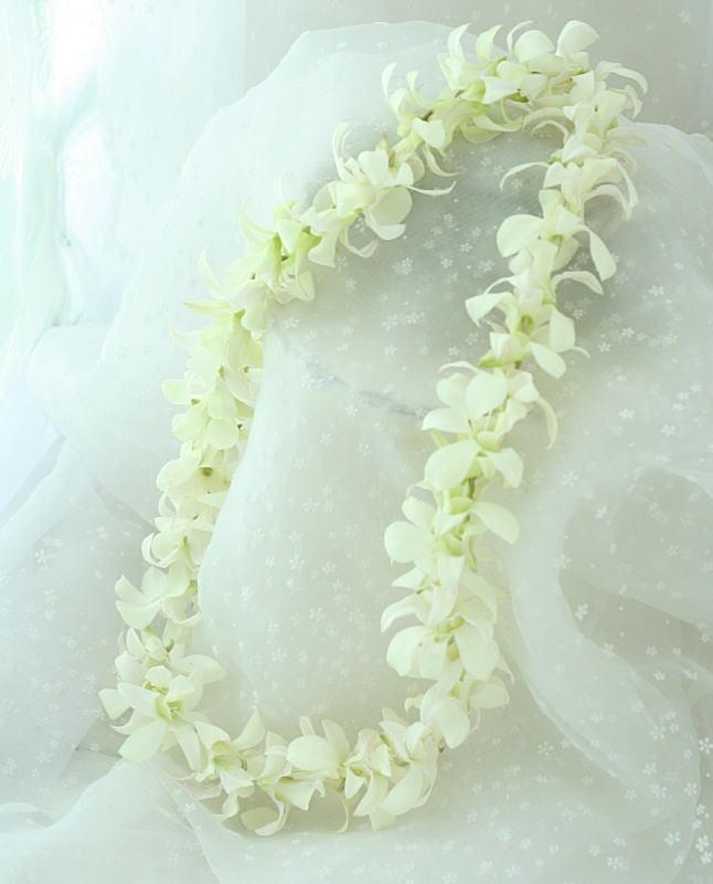 祭壇装花とチェアフラワー デンファレのレイとクラウン_a0042928_19573998.jpg