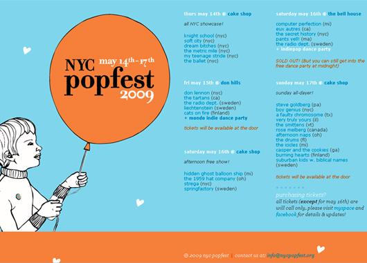 若手インディー・ポップ・バンドのショーケース NYC Popfest 2009_b0007805_12515481.jpg
