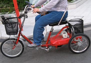 街を走っていた電動アシスト踏込式三輪自転車!_c0167961_2201425.jpg