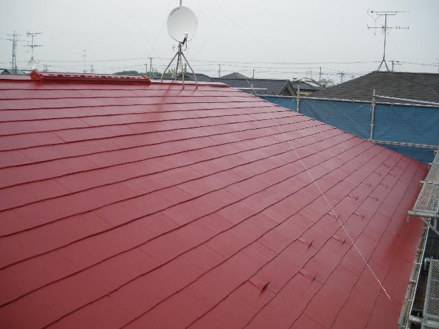 屋根塗装工事4日目です。_c0186441_19513750.jpg