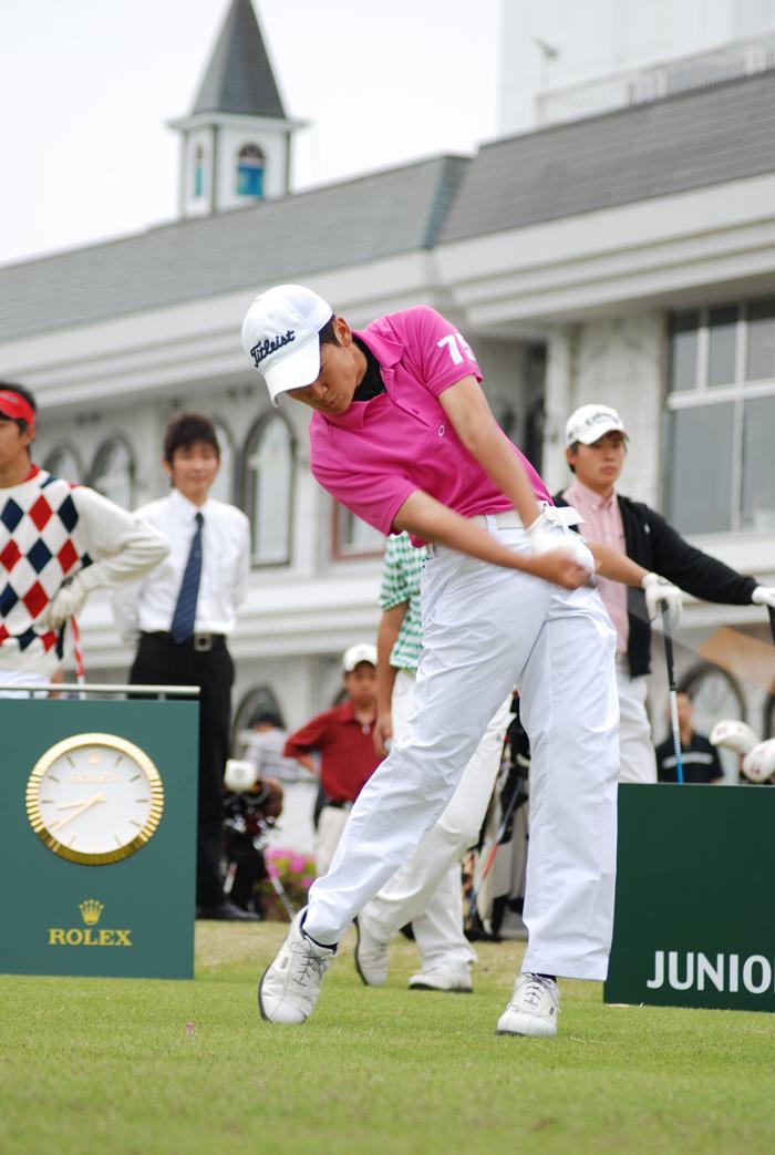 石川遼選手も来場/ロレックス ジュニア ゴルフ チャンピオンシップ決勝_f0039351_149101.jpg