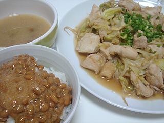 鶏のにんにく野菜炒め_c0025217_14153956.jpg