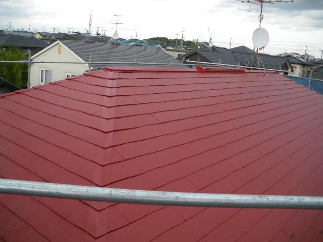 屋根塗装工事5日目です。_c0186441_1434796.jpg