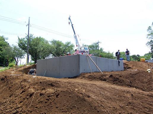 米沢の家 造成工事中 2009/5/25_a0039934_17284750.jpg