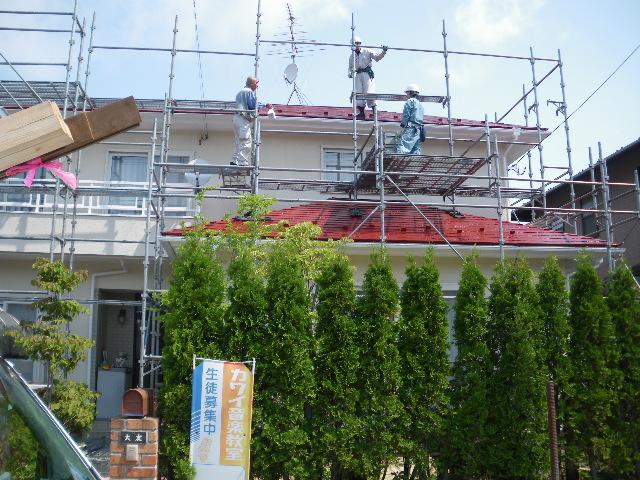 屋根塗装工事終了です_c0186441_23191862.jpg
