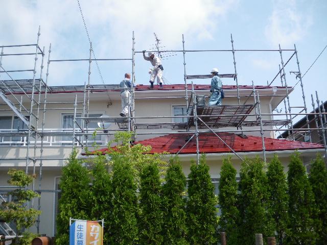 屋根塗装工事終了です_c0186441_23192739.jpg