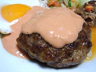 ハンバーグと鶏ささみの梅しそバルサミコ酢和え_c0025217_1649133.jpg