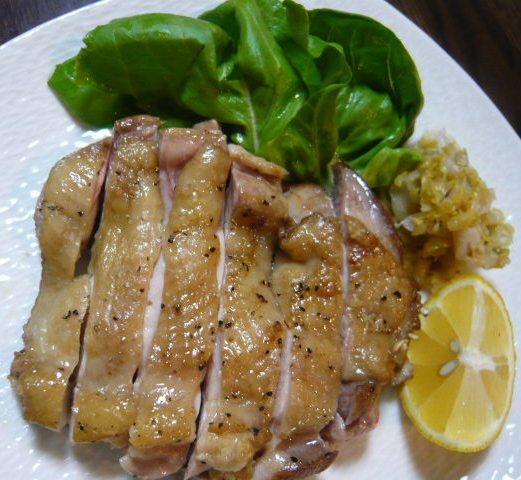 鶏肉のガーリックソテー_c0100865_647985.jpg