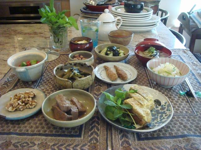 三つ葉とミントがある、朝食は香りの世界、_d0100880_10111055.jpg