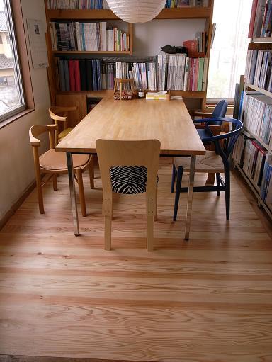 事務所打合せスペースの床張り替え 2009/5/28_a0039934_18542828.jpg