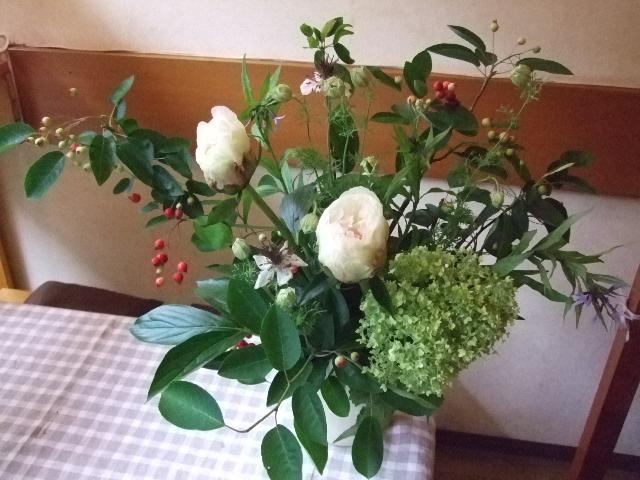 オークリーフ花の教室(カフェマレットさんにて。第5回)_f0049672_175112.jpg