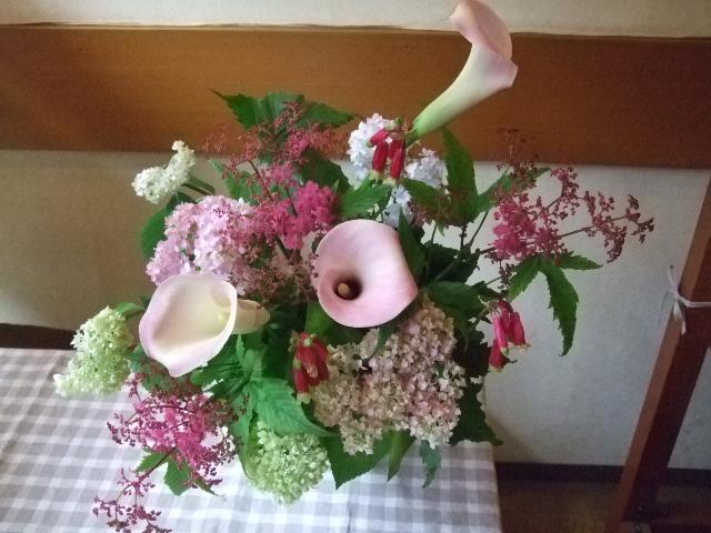 オークリーフ花の教室(カフェマレットさんにて。第5回)_f0049672_1813627.jpg