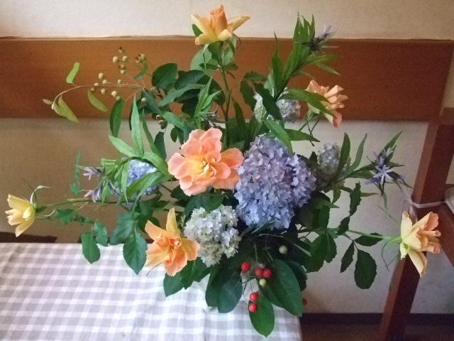 オークリーフ花の教室(カフェマレットさんにて。第5回)_f0049672_183607.jpg