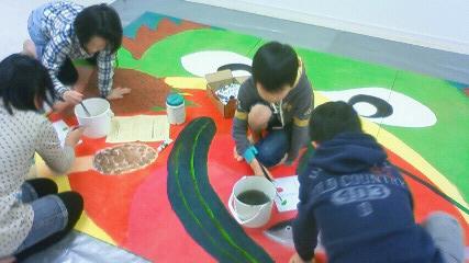 巨大壁画 河童_b0187423_13592437.jpg