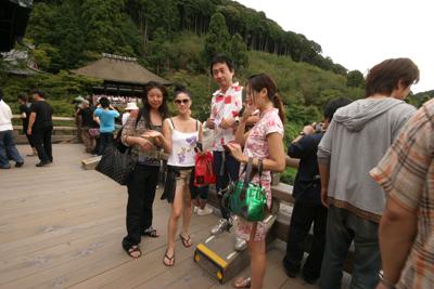 ツアー中の清水寺の舞台_f0196753_4102162.jpg